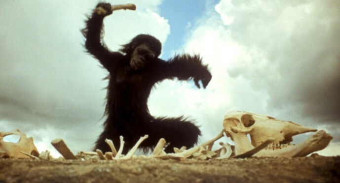 映画『2001年宇宙の旅』より猿のシーン