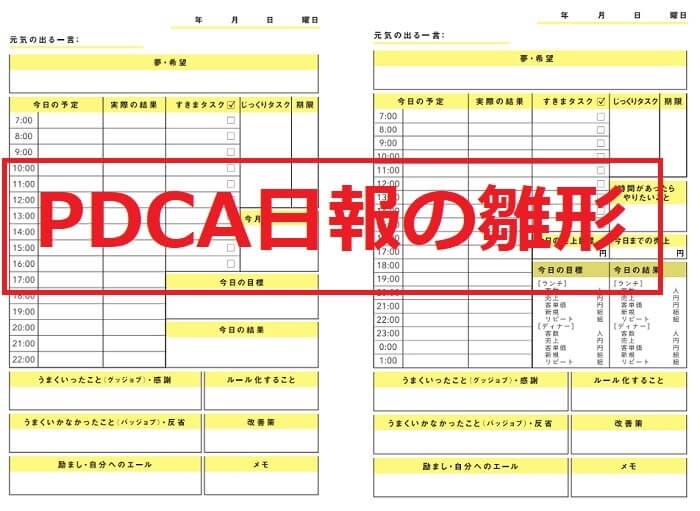 PDCA日報の雛形