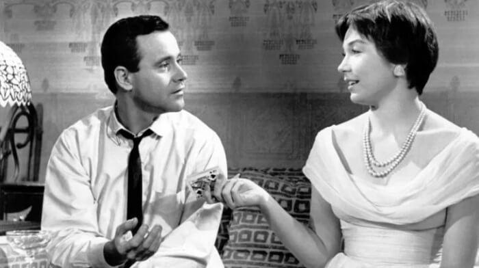 映画『アパートの鍵貸します』から主役のジャックレモンとシャーリー・マクレーン