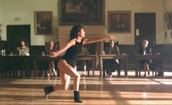 映画「フラッシュダンス」ジェニファー・ビールスのダンスシーン