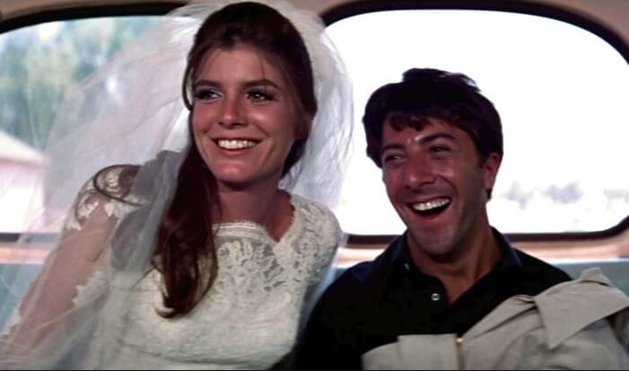 映画『卒業』から主役のダスティン・ホフマンとキャサリン・ロス